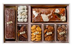 ギフト うなぎの寝床 (小)、マカダミア、ショコラ、梅と伊予柑、クッキー×3